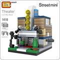 Ideas loz mini bloques bloques de construcción modelo de escenario del teatro de street view tienda juguete bircks modelos abs juego de rompecabezas juguetes diy regalo 1410