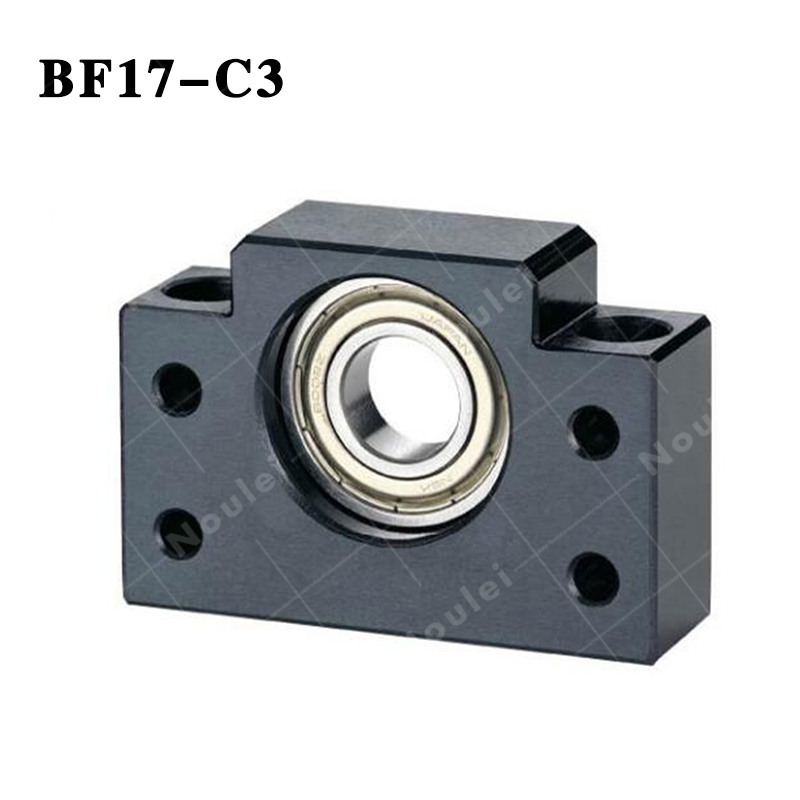 Ball screw Support Unit supported-side ( BF17 ) BF17-C3 Black noulei ballscrew support bk17 bf17 c3 linear guide screw ball screws end supports cnc