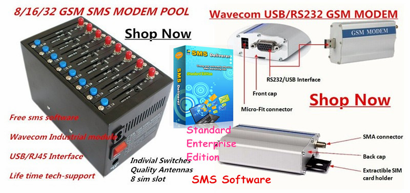 Online transfer bulk SMS software support gsm dongle and 4/8/16/32/64 ports gsm modem pool - SMSDelivere enterprise edition