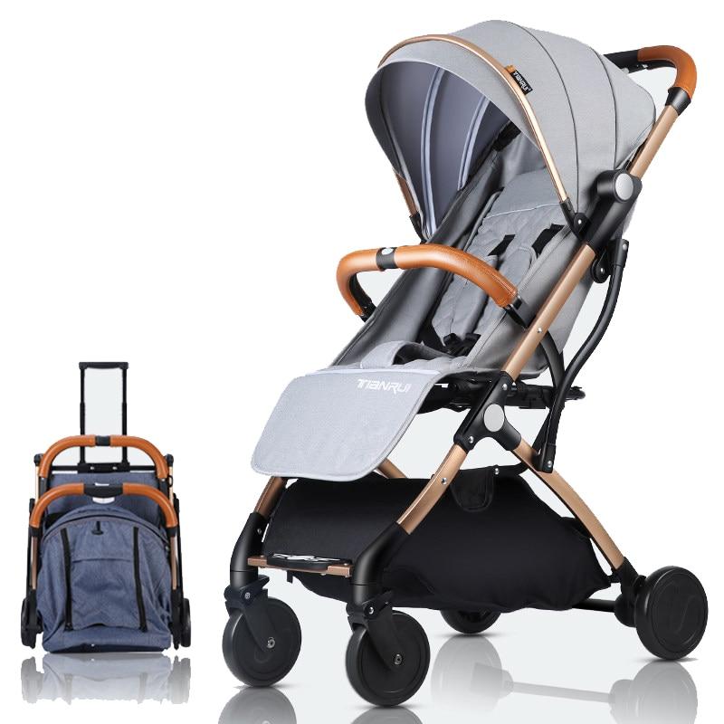 Baby Stroller Plane Lightweight Portable Travelling Pram Children Pushchair ...