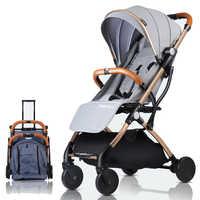 Poussette bébé avion léger Portable voyage landau enfants poussette 4 cadeaux gratuits, 3 USD COUPONS, FRANCE libre d'impôt