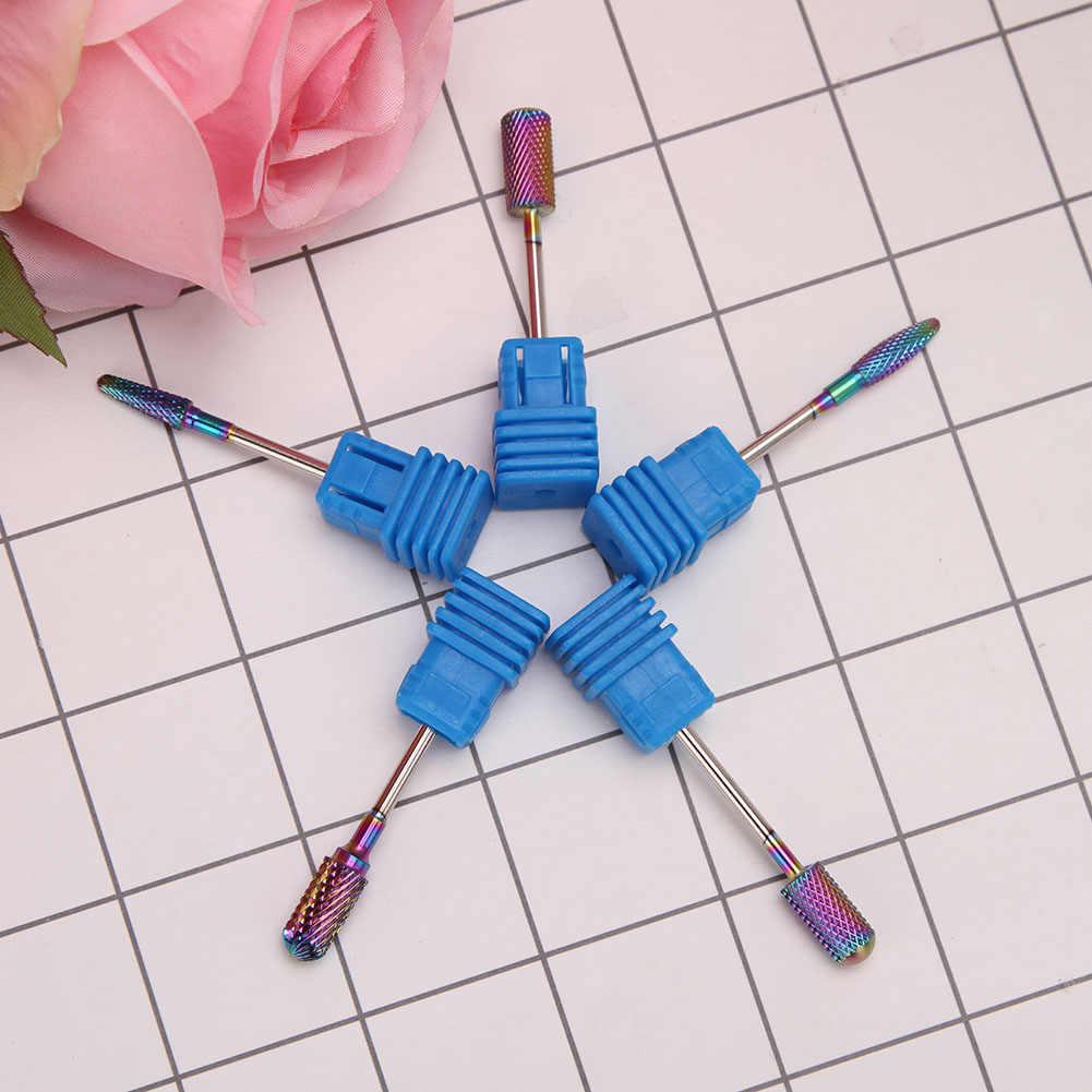 Blauwe Wolfraam Ronde Flame Nail Boor Carbide Frees Manicure Keramische Boren Elektrische Machine Nail Accessoires