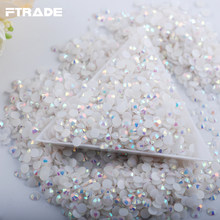 2017 New 1000Pcs Bag White Jelly AB SS16 4mm Non Hotfix Rhinestones  Flatback 3D Nail Art Crystal Diy Decorations Accessories 8e4b696a36f9