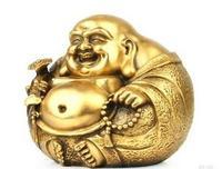 Collection of decorative sculptures brass Maitreya Buddha