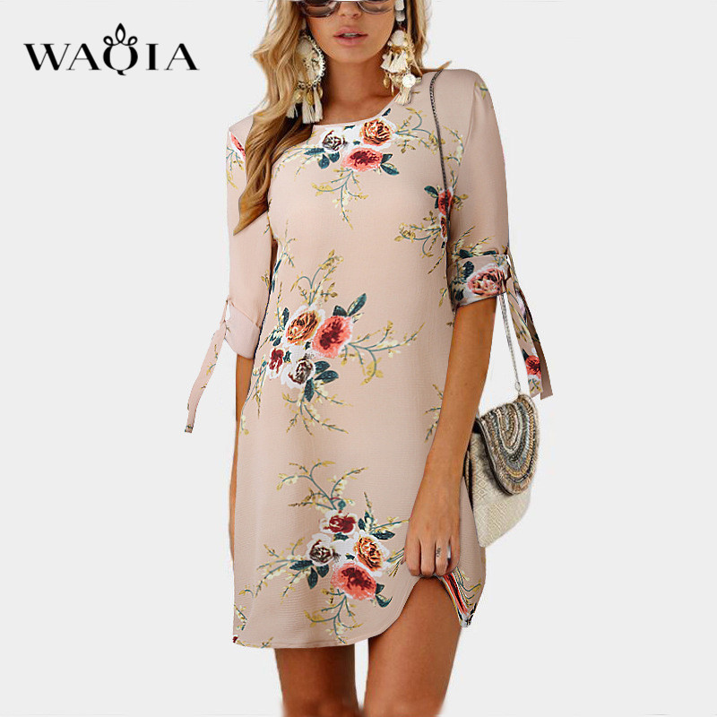 215e6dba24d Plus Size 5XL Women Summer Dress 2018 Elegant Half Sleeve Floral Print  O-neck Dresses