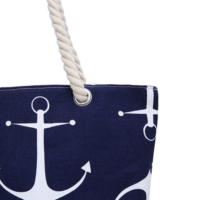 d7b9004fb Large Beach Bags for Women Anchor Printed Tote Bag Vintage Canvas Shopping  Bag Casual Rope Shoulder Bag for Girls Sac De Plage-in Shoulder Bags from  Luggage ...