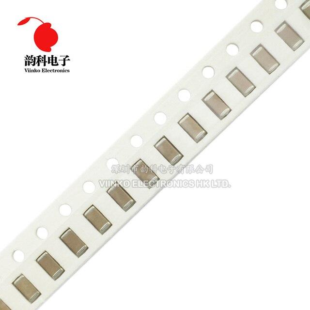 100 sztuk 1206 SMD Chip wielowarstwowy kondensator ceramiczny 0.5pF   100uF 10pF 100pF 1nF 10nF 15nF 100nF 0.1uF 1uF 2.2uF 4.7uF 10uF 47uF