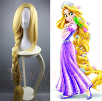 Women Princess Tangled Rapunzel Cosplay Wig Yellow Wig Halloween Role Play Long Braided Hair Cos