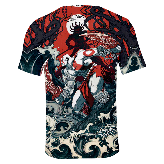 God Of War 3D Design T-Shirt Men Women O-Neck Summer Tshirt Hot Game T Shirts Tops Camisetas Clothing 5