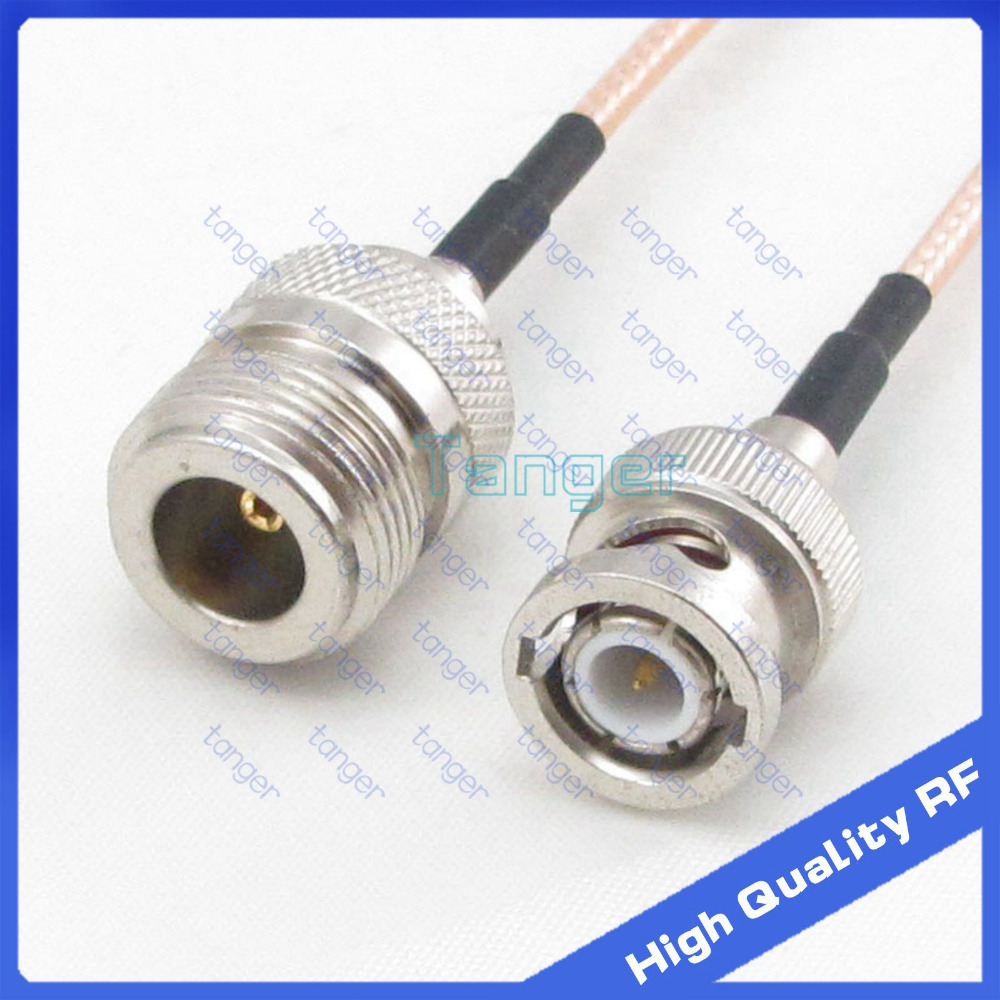 Tanger N female jack to BNC male plug straight connector with RG316 RG-316 Coaxial Pigtail Jumper Low Loss cable 8inch 20cmTanger N female jack to BNC male plug straight connector with RG316 RG-316 Coaxial Pigtail Jumper Low Loss cable 8inch 20cm