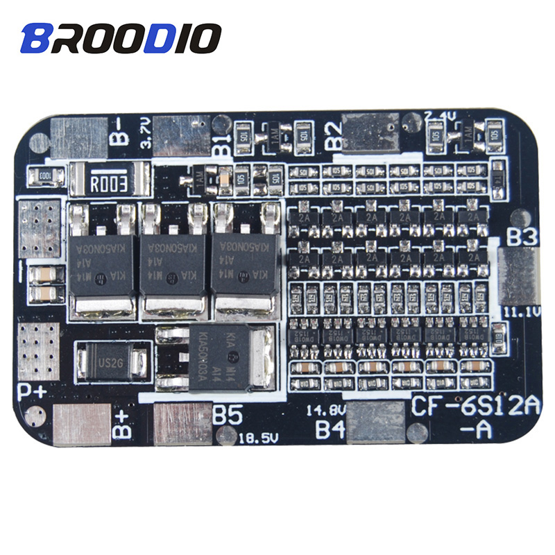 6S BMS 15A 20A 25.2V 18650 lto Lithium Battery Balancer Pack Protection Board