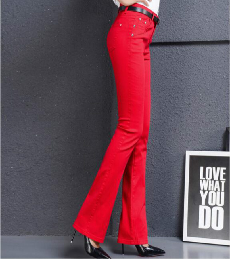 2019 Spring And Autumn New Fashion Casual Female Women Girls Tight Elastic Plus Size Multicolor Soft Jeans Clothing Clothes