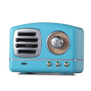 Image 3 - Nordic Bluetooth radio Speaker Retro Mini Portable Wireless Bluetooth Speaker Radio USB/TF Card Music Player Subwoofer decore