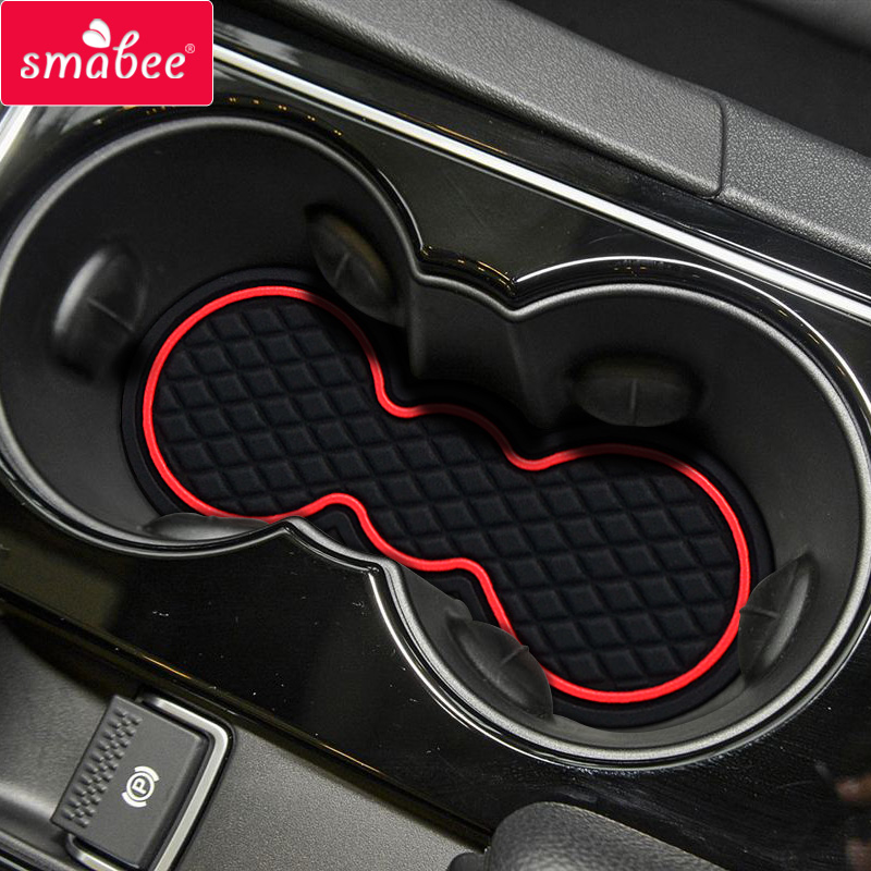 SMABEE Door Groove Mat For Jaguar XF 2011-2015 Gate slot mat Interior Door Pad/Cup Non-slip mats red/white/black slogan print door mat