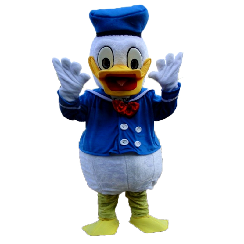 Popular Custom Made New Plush Donald Duck Cartoon Mascot Costume For Adult In Christmas