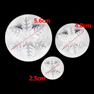 Image 4 - Wedding Party Snowflake Fondant Cake Decorating Plunger 3Pcs/Set  Sugar craft Cutter Mold Tools Christmas Cake Decorating Tools