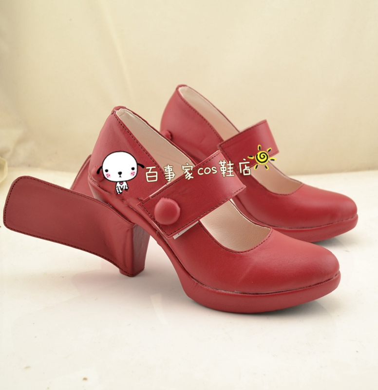 Kantai Collection Amatsukaze Cosplay Shoes Red High-heel Shoes Custom-made