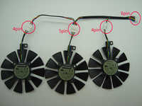 Free Shipping T129215SU For ASUS RX480 /580 GTX 980Ti R9 390 390X GTX 1060 1070 1080 1070Ti 1080Ti Graphic Card Cooling Fan