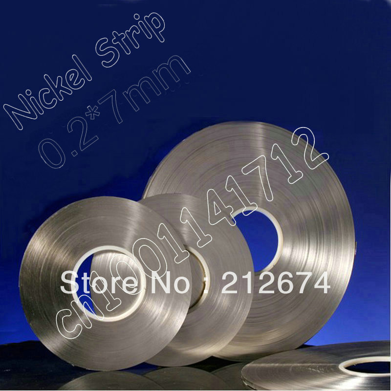 Free Shipping! nickel tape 0.2*7mm pure nickel strip 18650 lithium battery nickel belt nickel bay nick