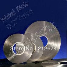 Free Shipping! nickel tape 0.2*7mm pure nickel strip 18650 lithium battery nickel belt