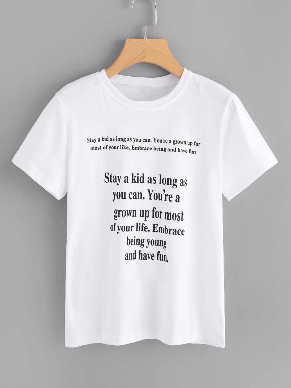 cb0c7e8a6e0b6 Stay a kid as long as you can t shirt funny slogan 90s women fashion ...