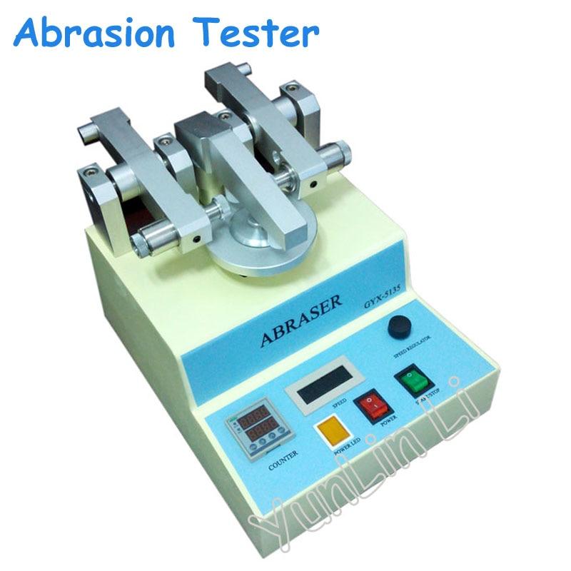 Abrasion Tester 110V/220V Grinding Wheel Wear resisting Machine Film Grinding Machine Paint Film Abrasion Meter GYX 5135