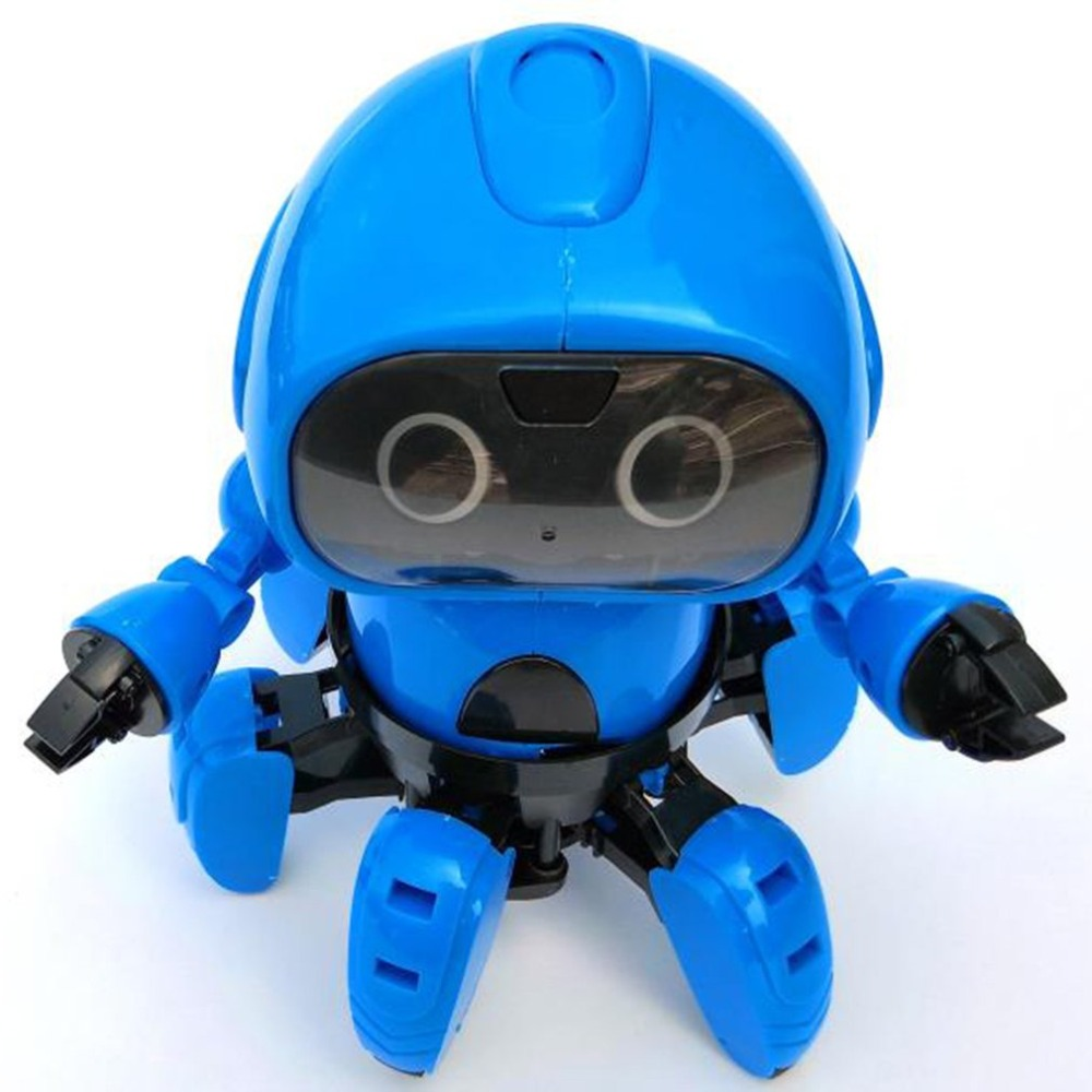 OCDAY 963 Intelligent Induction Remote RC Robot Toy Model with Following Gesture Sensor Obstacle Avoidance for Kids Gift Present 2017 flytec fq4005 obstacle avoidance movement programming gesture control intelligent rc robot for kids christmas birthdaygifts