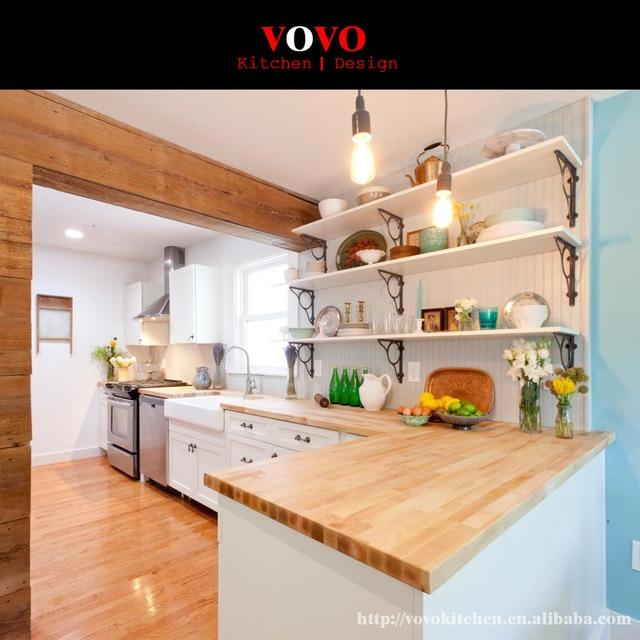 Kayu Solid Dapur Desain Kabinet Untuk Kecil