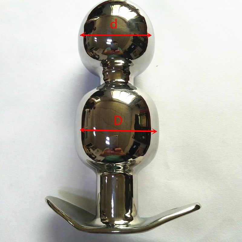 אנאלי תקעים נירוסטה עוגן סגנון התחת מרחיב Soild חרוז הטבעת Eurynter חצר אחורית תקע אנאלי צעצועי מין לזוגות H8-1-79