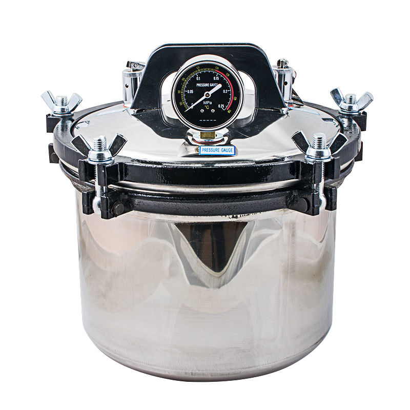 High Quality 8L High-Pressure Medical Steam Sterilization Pot Steam Autoclave Sterilizer Dental  with Steam Valve Lab Supplies 90kpa electric pressure cooker safety valve pressure relief valve pressure limiting valve steam exhaust valve