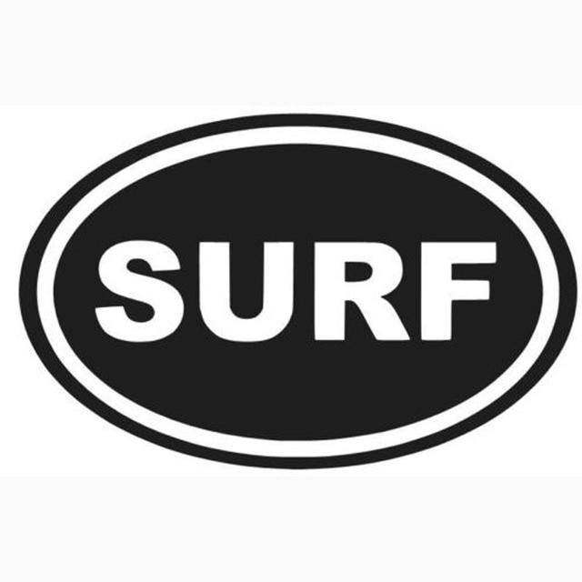 15 5x9 9cm surf oval vinyl decal sticker personality car sticker s8 0328