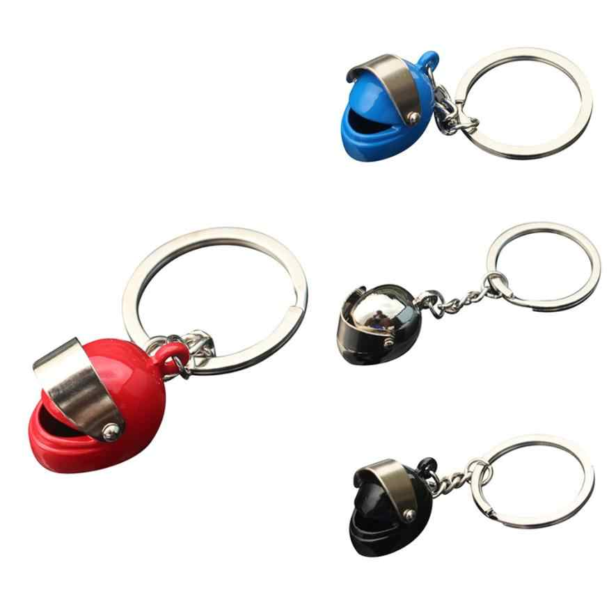 Cheap Creative Motorcycle Bicycle Helmet Key Chain Ring Keychain Keyring Key Fob