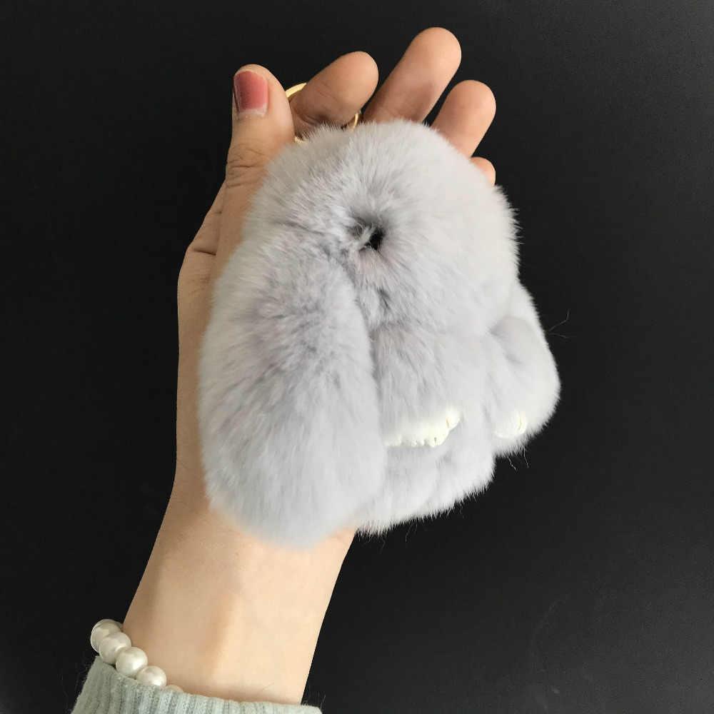 Magicfur-2019 novo. 10 centímetros MINI Real Rex Pele De Coelho Coelho Boneca de Brinquedo Chaveiro Real Rex Rabbit Fur Bolsa Charme Chaveiro