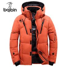 2018 Winter Jacket Men Thicken Warm Hoodies Hooded Parkas Long Sleeve Down Jacket Zipper Outwear Overcoat