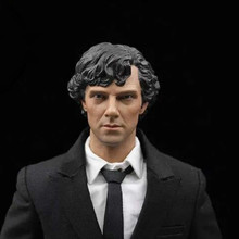 Custom 1/6 Sherlock Holmes Benedict Cumberbatch Head Sculpture for 12' Male Action Figure Toys цена