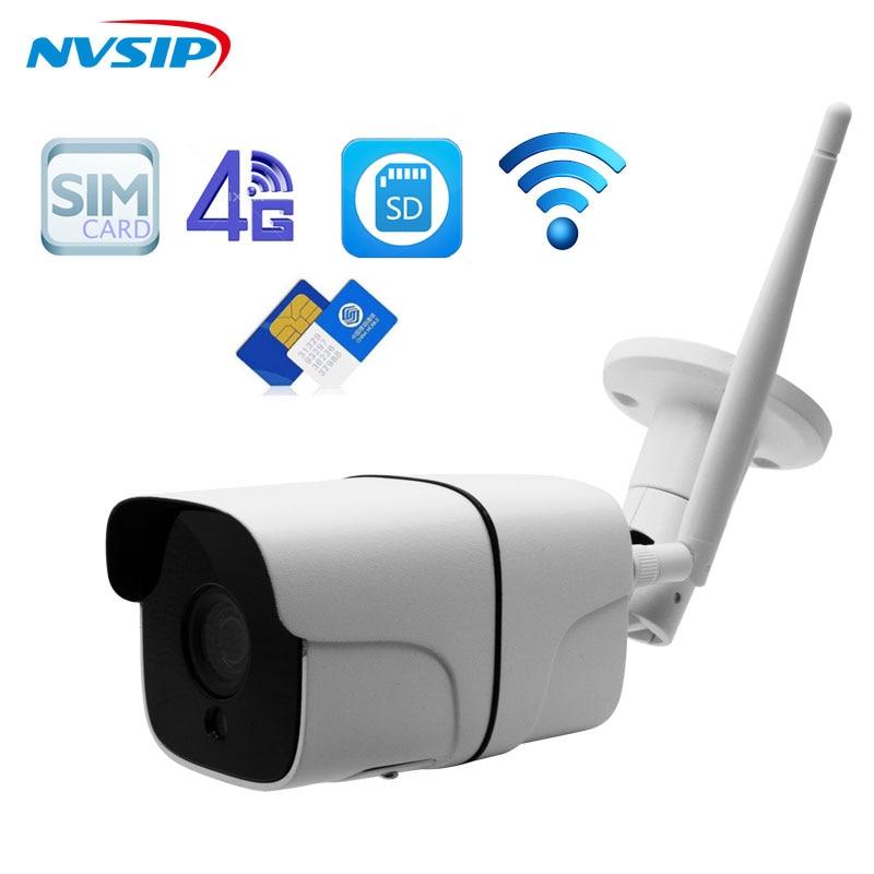 Full HD 1080P Bullet IP Camera Wireless GSM 3G 4G SIM Card IP Camera Indoor/Outdoor Waterproof cctv Camera IR Night Vision P2P