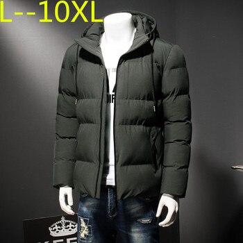 10XL 8XL 6XL 2018 NEW Winter Jacket Men Slim Thick Warm Top Quality Windproof Zipper Clothes For Men Fashion Winter Coats Man