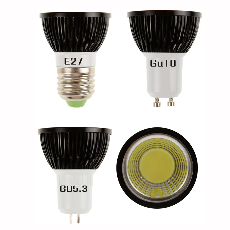 LED Spot lamp Bulb GU10 Cob mr16 3000K 6000K Warm Cold White E27 5W 7W 9W bulb replace Halogen lamp energy saving lamp 5w 7w cob led e27 cob ac100 240v led glass cup light bulb led spot light bulb lamp white warm white nature white bulb lamp
