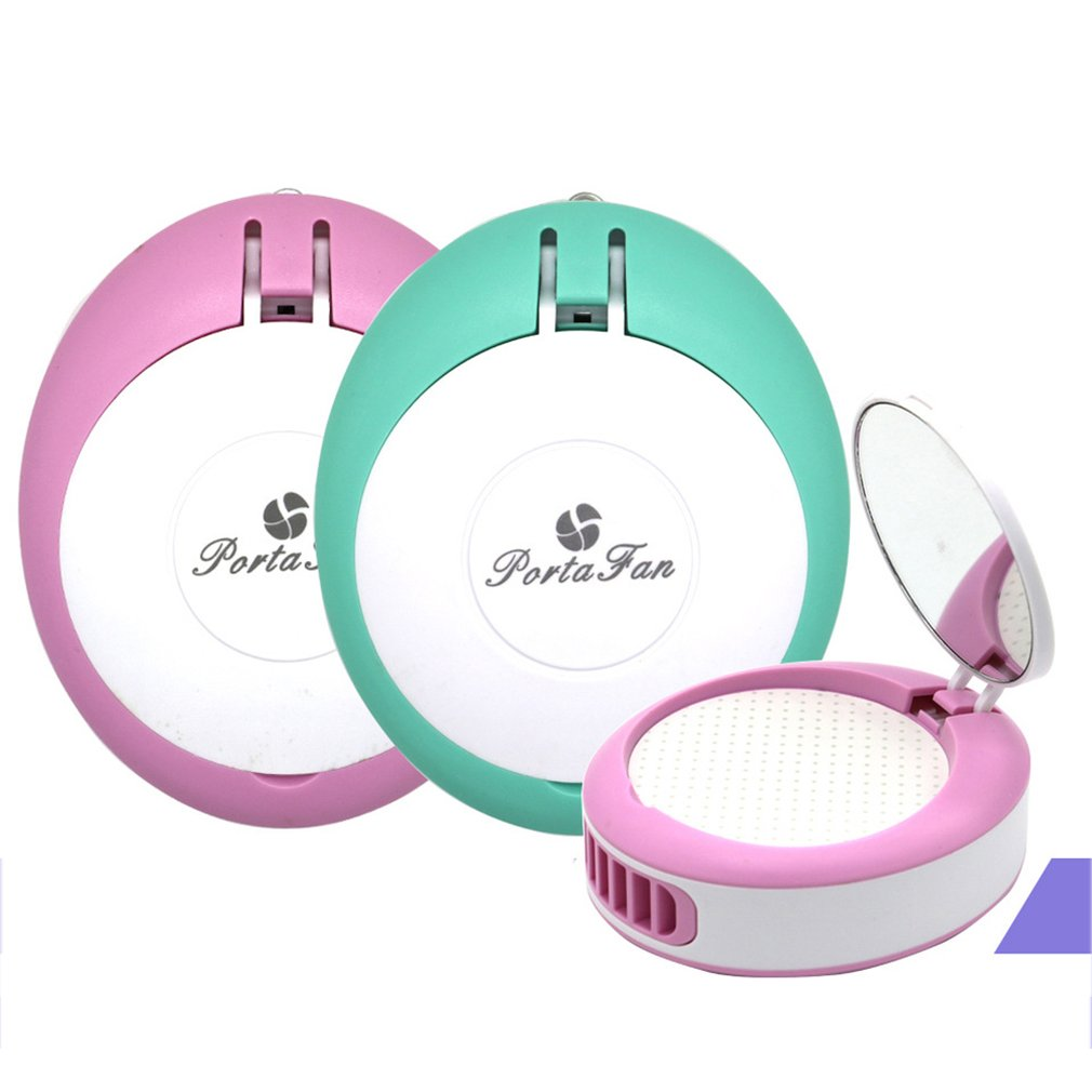 With Mirror Bladeless Drier Mechine Fan Portable Rechargeable Electric Handhold Cooling Fan For Eyelash Planting Grafting