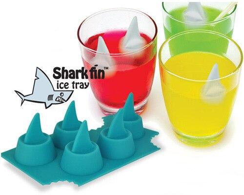Caixa bandeja de gelo de barbatana de tubarão tubarão início divertido suprimentos brinquedos presentes