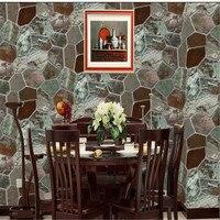 Wallpapers Youman Vintage Imitation Stone PVC Wallpaper 3D Simulation Rock Hot Pot Restaurant Special Restaurant Background Wall