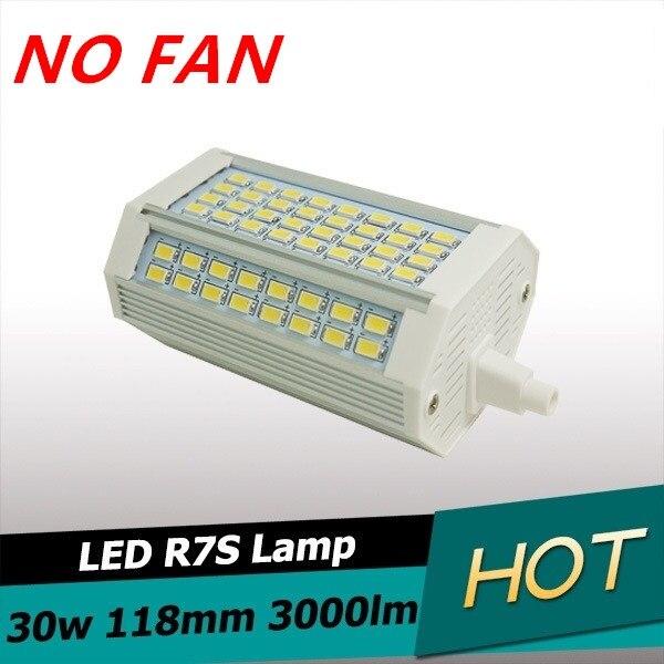 Novo design R7S 30 w levou luz 118mm nenhum Fã lâmpada dimmable R7S J118 R7S luz comida 3 anos garantia AC110-240V