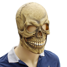 Costume Party Skull Skeleton Spooky Masks Latex Terror Props Accessory for Halloween Haunted House