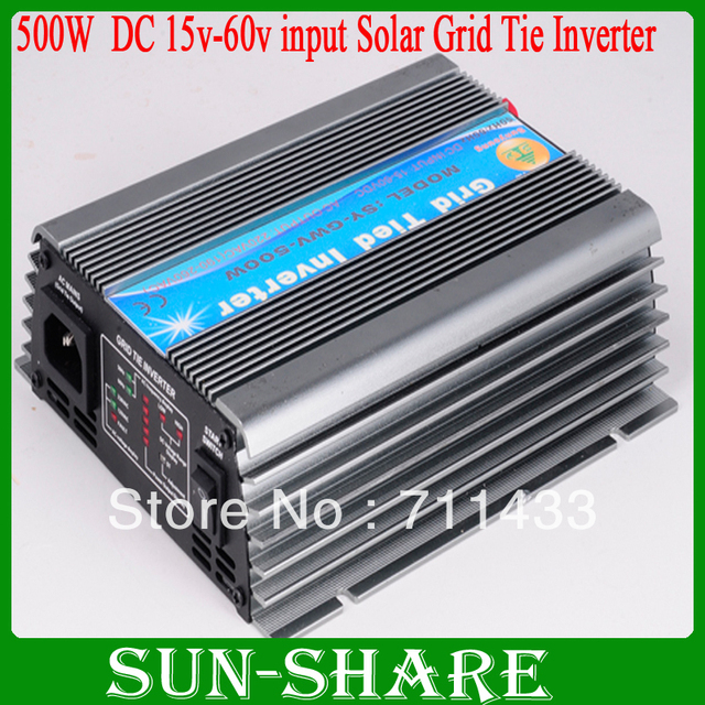 Free shipping! HOT SELLING ,high quality  DC 15V-62V  500w GRID TIE INVERTER output AC 90V-140V/AC 180V-260V OPTION 6pcs/lot