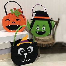 Halloween Style Children Candy Bag Pumpkin Ghost Pattern Decor Ornaments Halloween Cookies Gift Bag