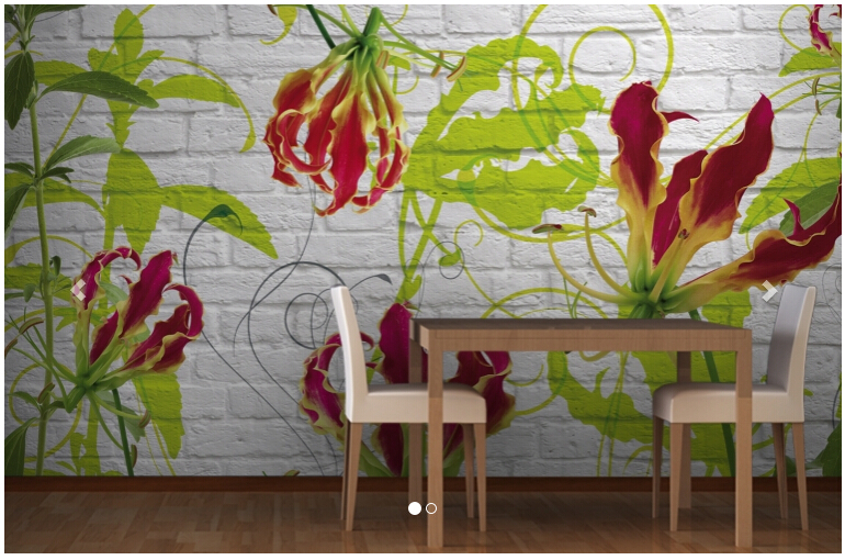 Custom 3 d stereoscopic which wallpaper, Gloriosa Flower Mural to the sitting room the bedroom TV wall vinyl papel DE parede custom photo wallpaper papel de parede forest scenery for the sitting room sofa setting wall vinyl bedroom which wallpaper