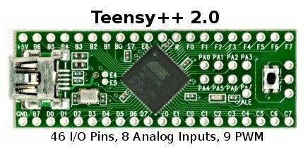 Teensy 2.0 + + USB AVR Conseil de Développement Clavier et Souris FAI U Disque Bord Expérimental AT90USB1286