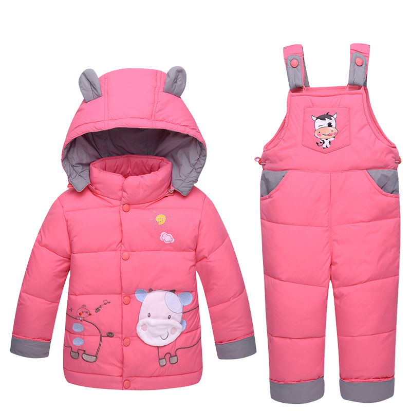 Baby Snowsuit Down New Infant Toddler Boys Girls Winter Clothing Sets Snow Wear Jumpsuit Hooded Jacket Girls Outfits LJ53Baby Snowsuit Down New Infant Toddler Boys Girls Winter Clothing Sets Snow Wear Jumpsuit Hooded Jacket Girls Outfits LJ53