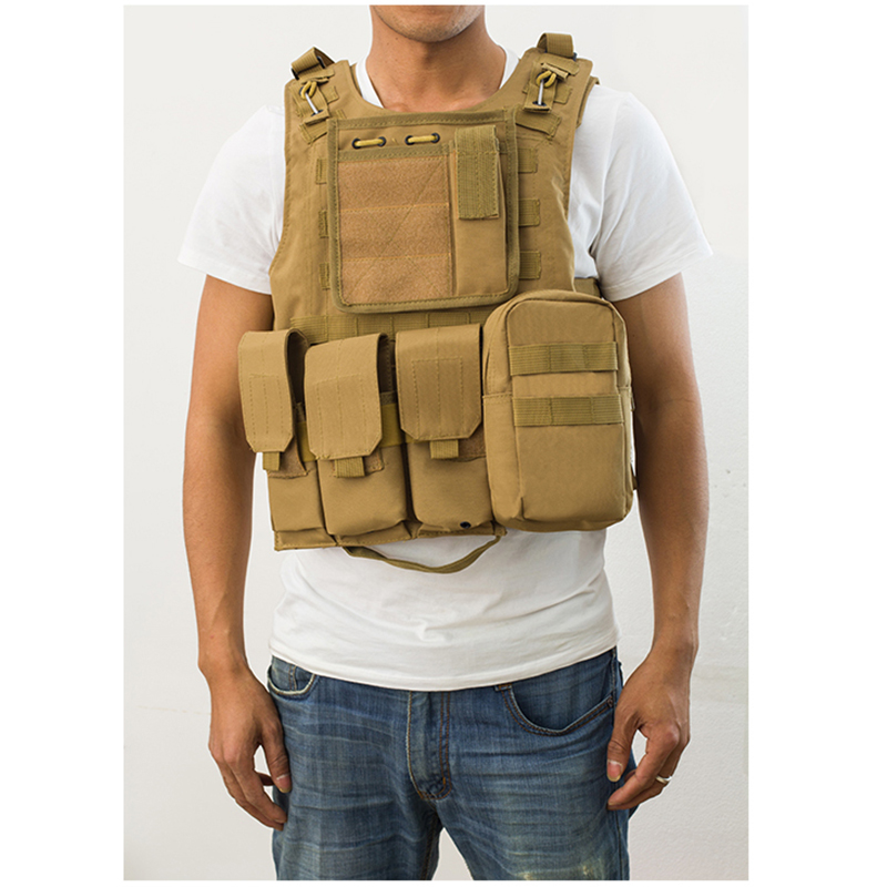 Sports Clothing Tactical Vest Newest Style Amphibious Military Molle Hunting Protective Camouflage Vest Combat Assault Plate Carrier Waistcoat Jade White