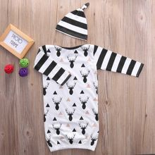 Infant Baby Kid Boy Girl Warm Romper Jumpsuit+Hat Cotton Clothes Outfits